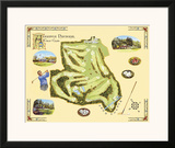 Golf Course Map, Augusta Prints by Bernard Willington