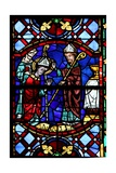 Window W04 Depicting St Martin Enthroned as a Bishop Giclee Print