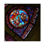Window Ww Depicting a Scene from the Last Judgement: Souls Rising and Being Taken to Heaven Giclee Print
