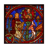 Window W2 Depicting Moses and the Burning Bush Giclee Print