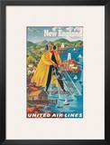 United Airlines New England, c.1940 Prints by Joseph Feher