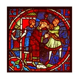 Window W1 Depicting St Stephen Is Led Off to Be Stoned Giclee Print
