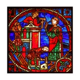 Window W1 Depicting a Scene from the Theophilus Story: the Rebuilding of Theophilus' Dignity Giclee Print