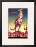Australia, Airline & Travel Kangaroo c.1957 Print by Eileen Mayo