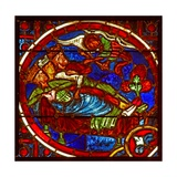 Window W2 Depicting the Magi are Warned in a Dream Giclee Print