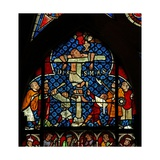 Window W12 Depicting the Repentant Thief at the Crucifixion Giclée-Druck