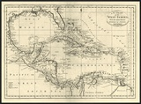Chart of the West Indies, c.1795 Print by Mathew Carey