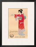 Japan Air Lines, Geisha c.1950's Art by  Mitsumura