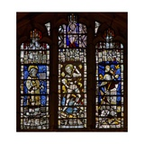 West Window Depicting St Christopher, St George, St Lawrence Giclee Print