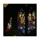 Window S1 Depicting Musician Angels with Harps and Crwth (Welsh Fiddle) Giclee Print