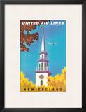 United Air Lines: New England, c.1950s Prints by Joseph Binder