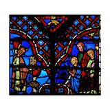 Window W2 Moses with the Tables of the Law: the People Listen to Moses Giclee Print