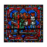 Window W17 Depicting a Scene from the Prodigal Son Story: He Returns to His Father Giclee Print