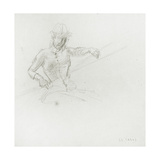 Female Figure, Holding Paddle, Study for 'Boulter's Lock, Sunday Afternoon', C.1880 Giclee Print by Edward John Gregory