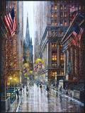 Wall Street Framed Giclee Print by Guy Dessapt