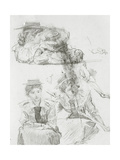 Studies of Female Figures and an Arm Holding a Paddle, Study for 'Boulter's Lock, Sunday… Giclee Print by Edward John Gregory