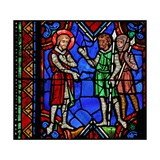 Window W06 Depicting St Julian of Brioude in Diocletian's Army Giclee Print