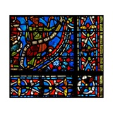 "Window W9 Depicting the Pharaoh Holding a Banderole with the Words ""I Clement of Chartres Made… Giclee Print"