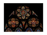 Window W201 Depicting the Tracery Lights with Three Angels Giclee Print