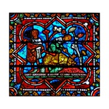 Window W17 Depicting a Scene from the Prodigal Son Story: the Fatted Calf Is Killed to Celebrate… Giclee Print