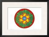 Ohana Sunrise, Hawaiian Taro Mandala Posters by Jozef Smit