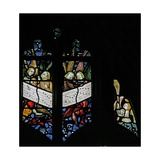 Window S2 Depicting the Angelic Choir Singing; Angel - Censing Giclee Print