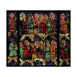 Window W16 Depicting a Scene from the Last Judgement: the Elect Giclée-Druck