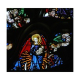 The West Rose Window Depicting a Scene from the Book of Revelation: Woman Clothed as the Sun, the… Giclée-Druck