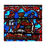 Window W17 Depicting a Scene from the Prodigal Son Story: He Finds Work Looking after Pigs Giclee Print