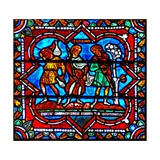Window W17 Depicting a Scene from the Prodigal Son Story: His Brother Enquires Giclee Print