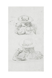 Two Studies of Head and Shoulders of Female Figure, Wearing Hat, Study for 'Boulter's Lock,… Giclee Print by Edward John Gregory