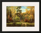Autumn Way III Print by Igor Priscepa