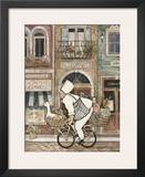 Chef on Bike Print by Betty Whiteaker