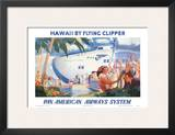 Hawaii by Flying Clipper, Pan American Airways System Poster