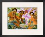 Hawaiian Hula, Women with Tropical Flowers Prints by Warren Rapozo