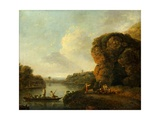 On the Banks of the River Giclee Print by Richard Wilson