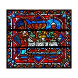 Window W17 Depicting a Scene from the Prodigal Son Story: the Reunion Feast Giclee Print