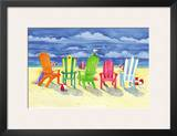 Brighton Chairs Print by Paul Brent