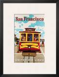 United Air Lines San Francisco, Cable Car c.1957 Art by Stan Galli
