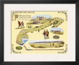 Golf Course Map, St. Andrews Print by Bernard Willington