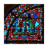 Window W17 Depicting a Scene from the Prodigal Son Story: His Father with His Brother Giclee Print