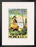 Mid Pacific Carnival, Honolulu, Hawaii, 1915 Print