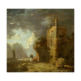 Ruined Tower with Figure, C.1770-79 Giclee Print by Richard Wilson