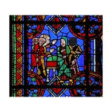 Window W06 Depicting Pilgrims Coming to St Brioude's Tomb Giclee Print