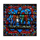 Window W17 Depicting a Scene from the Prodigal Son Story: Demons Lead Him Astray - He Falls on… Giclee Print