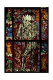 Window W16 Depicting a Scene from the Last Judgement: the Devil Attends Giclée-Druck