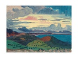 Sunset over the Dalmatian Coast Giclee Print by Derwent Lees