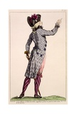 Young Officer in a Zebra Coat, Print Made by Dupin, 1789 Giclee Print by Claude Louis Desrais