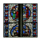 Window N3 Depicting the Nativity and the Presentation in the Temple Giclee Print