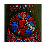 Window W141 Depicting a Musician Angel with a Shawm Giclee Print